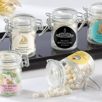 Glass Birthday Party Favor Jars (Set of 12)