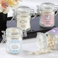 Glass Favor Jars for Baptisms (Set of 12)
