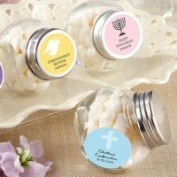 Christening Themed Candy Favor Jars (Set of 12)