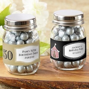 Birthday Glass Mason Favor Jars (Set of 12) image