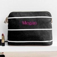 Personalized Striped Cosmetic Bag (2 Colors)