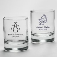 Personalized Baptism Shot Glass or Candle Holder