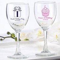 Personalized Birthday Wine Glass Favors