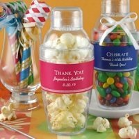 Personalized Birthday Party Cocktail Shaker Favors