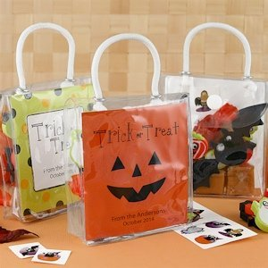 Halloween Mini Gift Tote Treat Bags image
