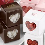 Heart Window Personalized Wedding Favor Boxes (Set of 25)