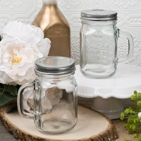 Perfectly Plain 12 Ounce Glass Mason Jar Favors