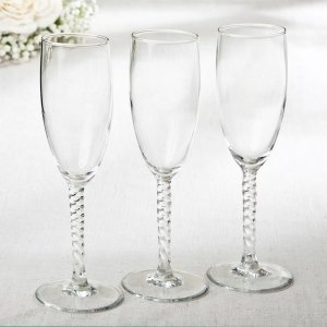 Perfectly Plain Twisted Stem Elegant Champagne Flute image