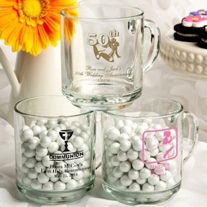 Personalized Special Celebrations Glass Mug image