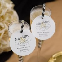 Golden Elegance Personalized Favor Tags (Set of 48)
