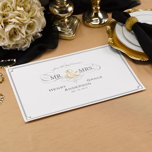 Golden Elegance Personalized Placemats (Set of 50) image