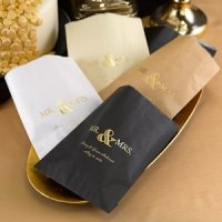 Golden Elegance Personalized Treat Bags (Set of 50)