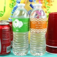 Personalized Birthday Party Water Bottle Labels (Set of 5)
