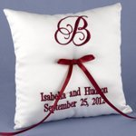 Personalized Ring Bearer Pillow (Many Thread Colors)