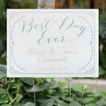 Rustic Vines Personalized Yard Sign