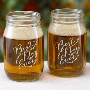 Rustic Vines Drinking Jars image