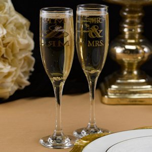 Golden Elegance Mr. & Mrs. Flutes image