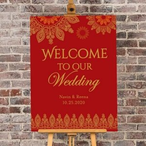 Personalized Indian Jewel Wedding Poster (18x24) image