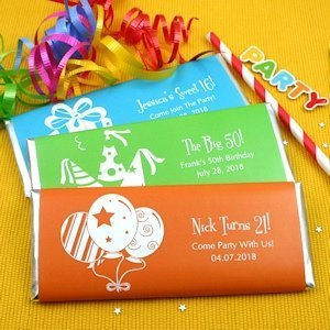 Personalized Birthday Candy Bar Favors image