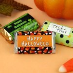 Personalized Halloween Mini Hershey Chocolate Bar Favors