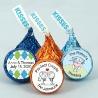 Golf Themed Hershey's Kisses Favors