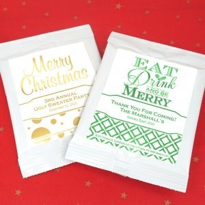 Holiday Metallic Foil Cocoa Favors image