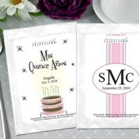 Personalized Quinceanera Cappuccino Favors (19 Designs)