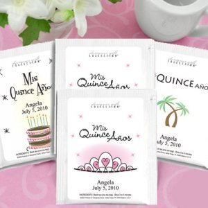 Personalized Tea Party Favors for Quinceanera image