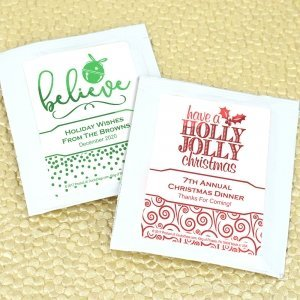 Holiday Metallic Foil Tea Favors image