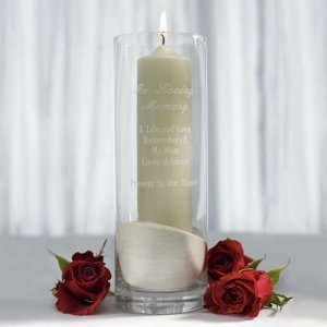 In Loving Memory Personalized Memorial Cylinder image