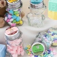 Personalized Teddy Bear Favor Jars