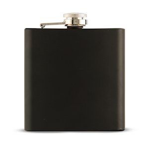 Black Coated Hip Flask image