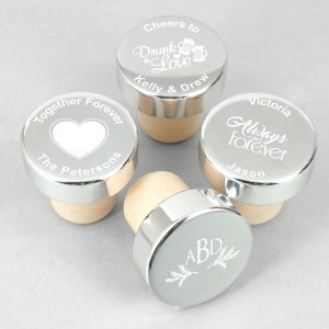 Personalized Silver Aluminum Top Bottle Stopper image