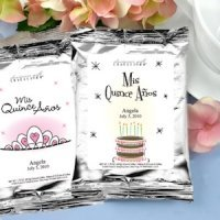 Personalized Silver Coffee Favors for Quinceaneras
