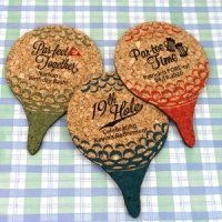 Personalized Golf Ball Cork Coaster Favors
