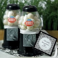 Mini Black Gumball Dispenser Party Favors