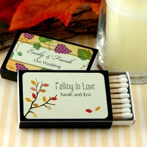 Falling in Love Personalized Black Matchboxes (Set of 50) image