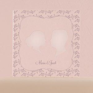 Silhouette Engraved Acrylic Block Cake Topper image