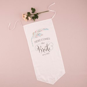 Feather Whimsy Personalized Ceremony Banner image