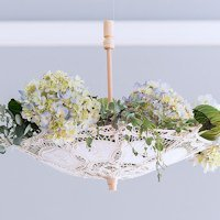 Small Battenburg Lace Parasol (2 Colors)