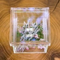 Woodland Pretty Personalized Alternative Wedding Ring Box
