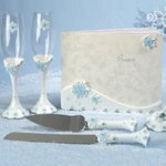 Blue Snowflake Wedding Set