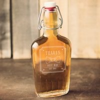 Personalized Groomsman Bow Glass Flask