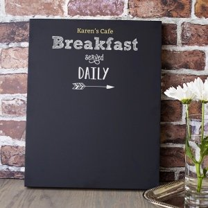 Personalized Breakfast Menu Chalkboard image