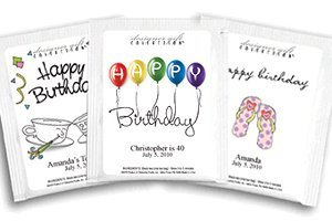 Personalized Birthday Tea Favors (50 Designs) image