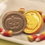 Chocolate Jack-o-Lantern Coins (Case of 250)