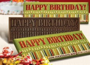 Happy Birthday Dark Chocolate Bars (Case of 50) image