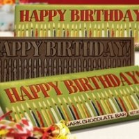Happy Birthday Dark Chocolate Bars (Case of 50)