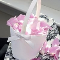 Simply Elegant Sweet Bow Flower Girl Basket