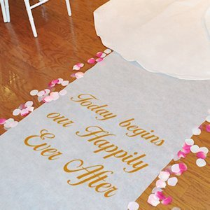 Custom Celebrations Personalized Wedding Floor Runner image